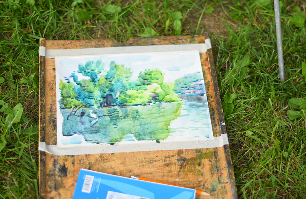 Olga Rogachevskaya's plein air watercolor