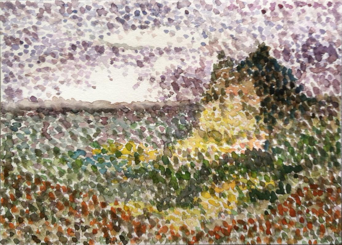 Max's Landscape - Pointillism