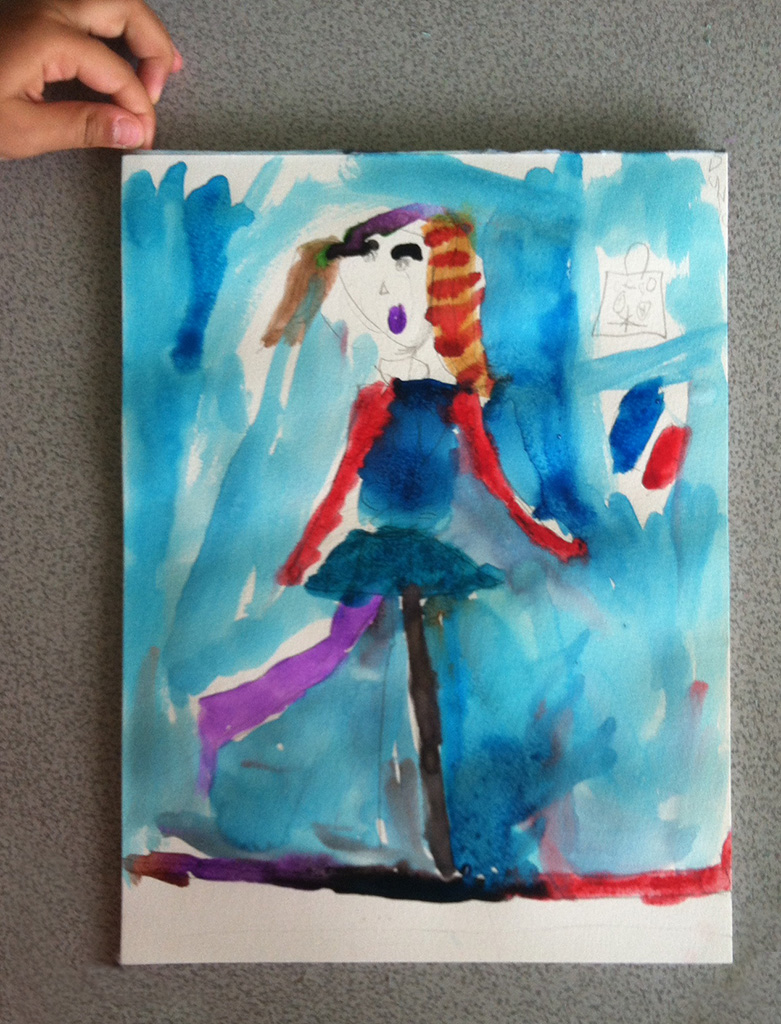 Dunya's watercolor dancer