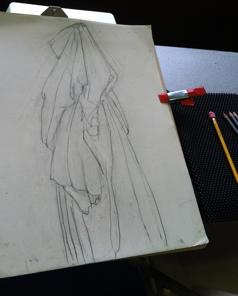 drapery study from Albrecht Durer's drawing