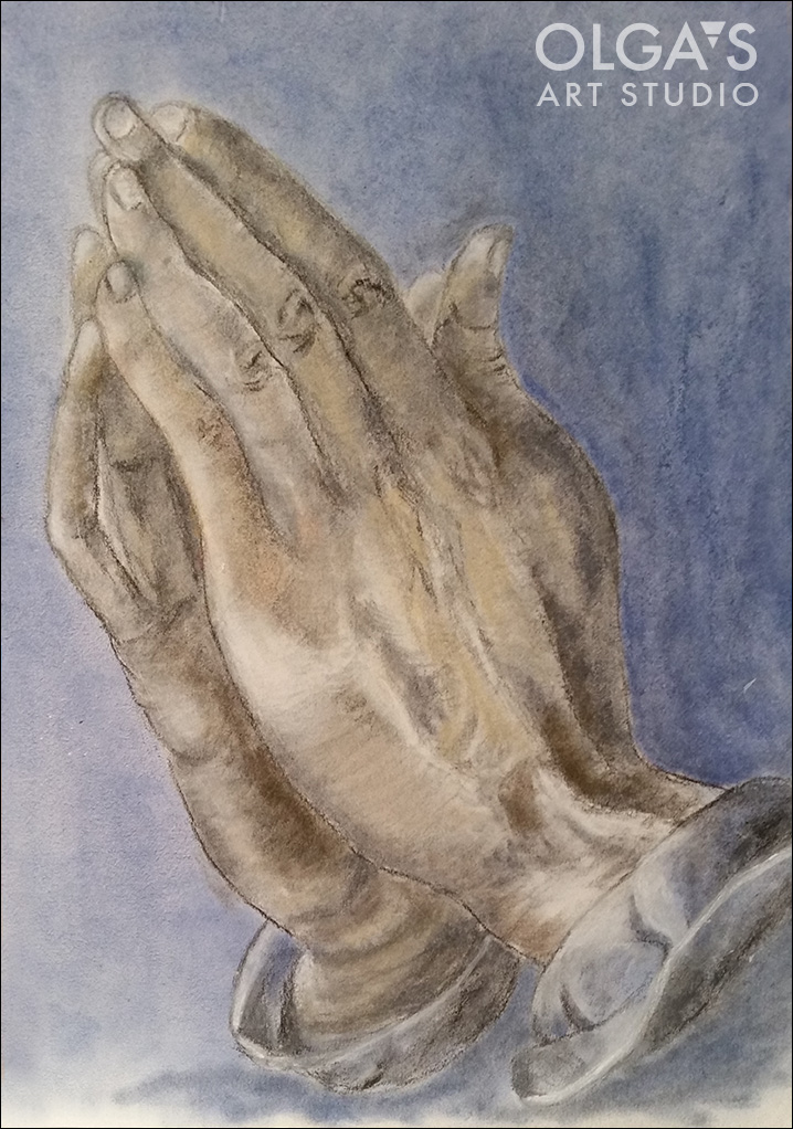 hands drawing by Michael
