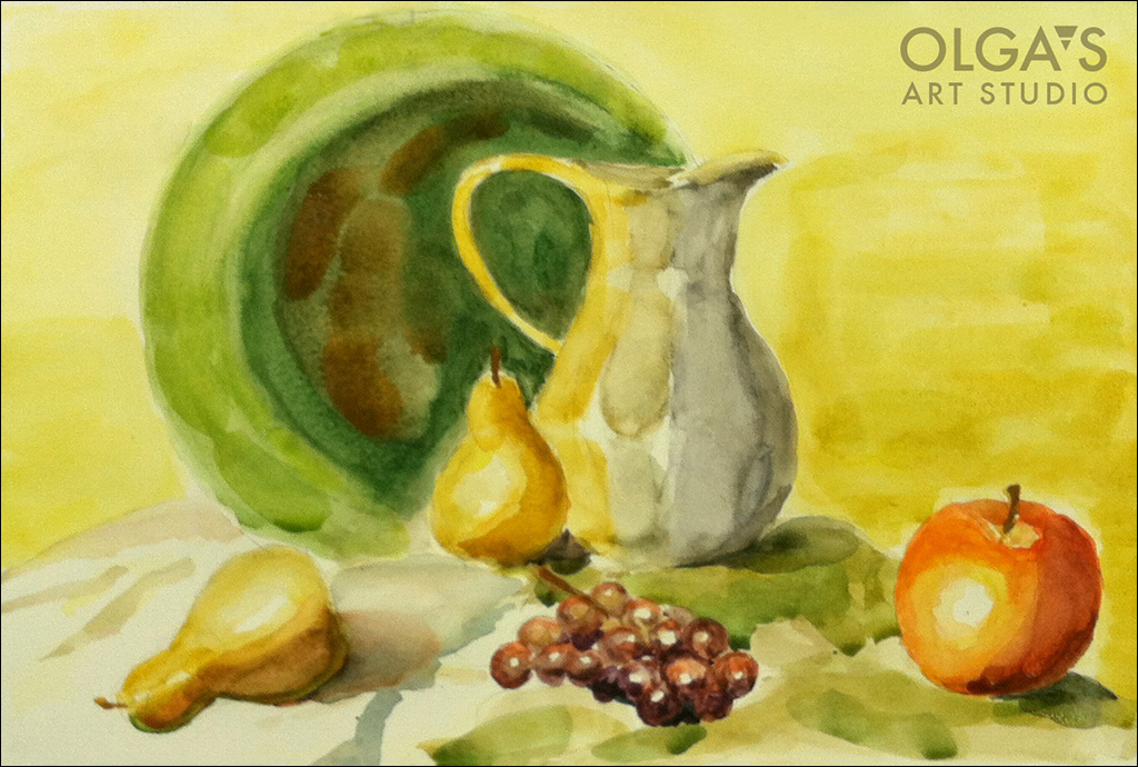 still-life watrecolor by Michael