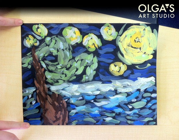 """""""The Starry Night"""" copy by Farrin"""