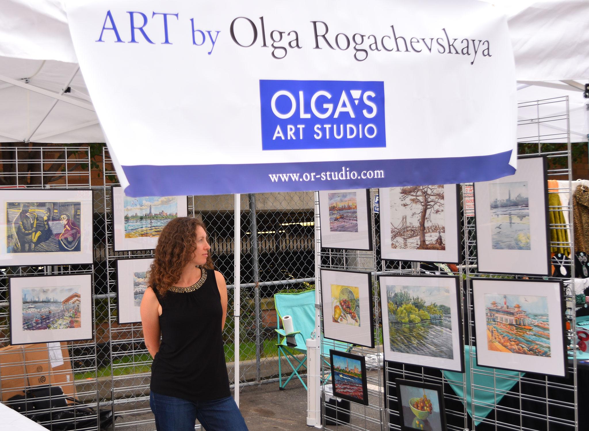 2015 Edgewater Art Festival - Olga Rogachevskaya's art