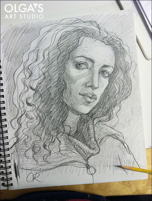 Olga Rogachevskaya's self-portrait