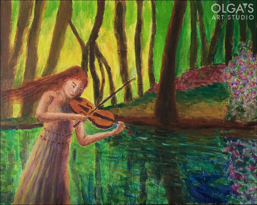 Violinist creativity series in acrylics