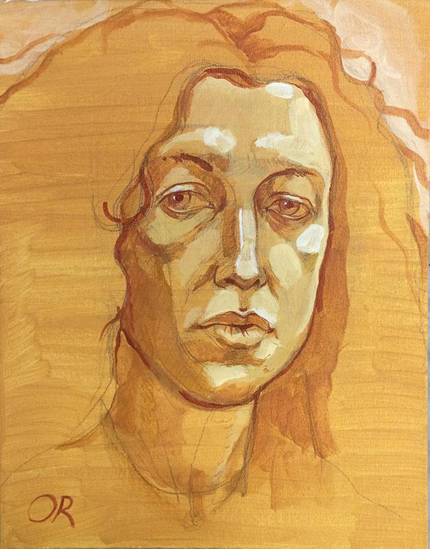 Olga Rogachevskaya self-portrait