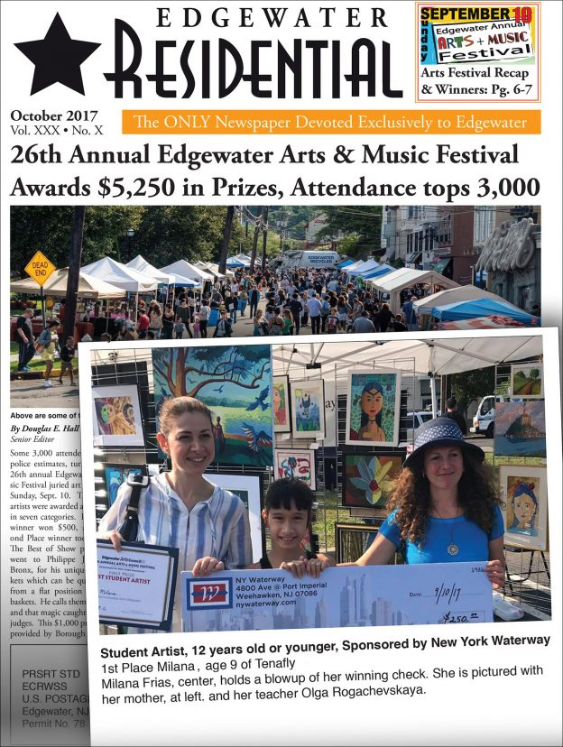2017 Edgewater art festival newspaper article
