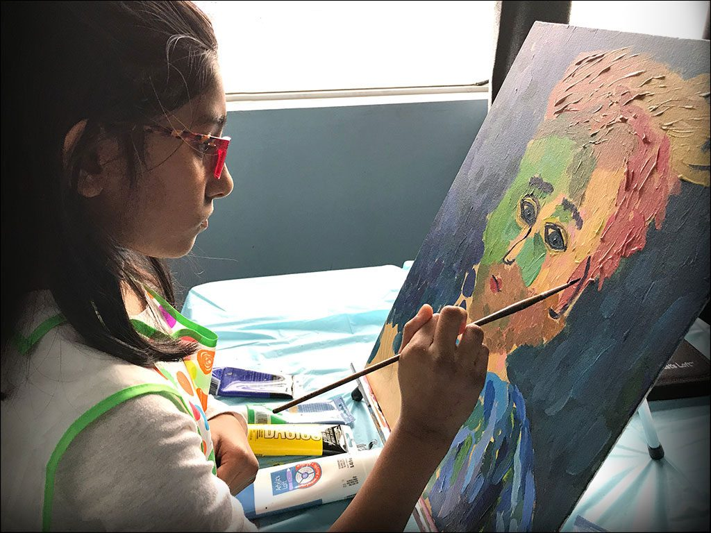 Van Gogh study in acrylics